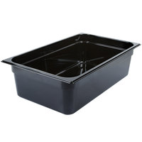 Carlisle 10402B03 StorPlus Full Size Black High Heat Plastic Food Pan - 6 inch Deep