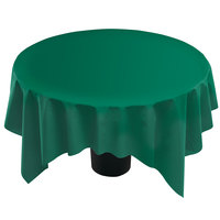 Hoffmaster 210432 82 inch x 82 inch Linen-Like Hunter Green Table Cover - 12/Case