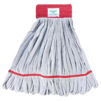 Unger ST38R SmartColor RoughMop ST38 Series 13 oz. Red Microfiber String Mop Head with 26 Strands