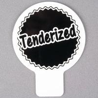 Deli Tag Topper - TENDERIZED - Black