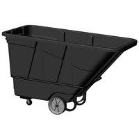 Continental 5852BK 1.5 Cubic Yard Black Tilt Truck / Trash Cart (2100 lb.)
