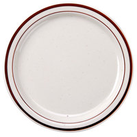 8 3/8 inch Brown Speckle Narrow Rim China Plate - 36/Case