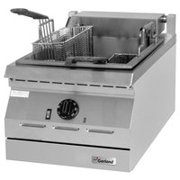 Garland ED-30SFT Designer Series 34 lb. Dual Tank Electric Countertop Super Deep Fryer - 208V, 3 Phase, 16 kW