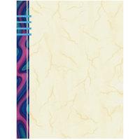 8 1/2 inch x 11 inch Menu Paper - Wave Border Left Insert - 100/Pack