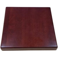 American Tables & Seating UV3636-50 DM 36 inch x 36 inch Square Table Top - Dark Mahogany