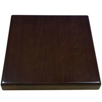 American Tables & Seating UV3636-50 W 36 inch x 36 inch Square Table Top - Walnut