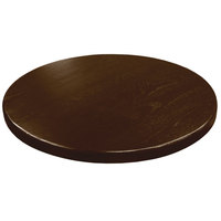 American Tables & Seating UV24-50 W 24 inch Round Table Top - Walnut
