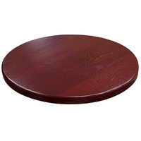 American Tables & Seating UV24-50 DM 24 inch Round Table Top - Dark Mahogany