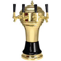 Micro Matic CT902-4BRKR Zeus Brass Black Kool-Rite Glycol Cooled 4 Tap Tower