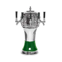 Micro Matic CT900-5CHKR Zeus Chrome Green Kool-Rite Glycol Cooled 5 Tap Tower
