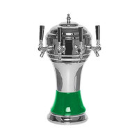 Micro Matic CT900-4CHKR Zeus Chrome Green Kool-Rite Glycol Cooled 4 Tap Tower