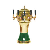 Micro Matic CT900-5BRKR Zeus Brass Green Kool-Rite Glycol Cooled 5 Tap Tower