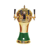 Micro Matic CT900-4BRKR Zeus Brass Green Kool-Rite Glycol Cooled 4 Tap Tower