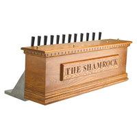 Micro Matic CFN12A 12 Tap Air Cooled Irish Coffin Box - Natural Oak