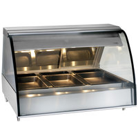 Alto-Shaam TY2-48 SS Stainless Steel Countertop Heated Display Case with Curved Glass - Full Service 48 inch