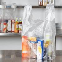 1/6 Size .51 Mil Clear Unprinted Plastic T-Shirt Bag - 1000/Case