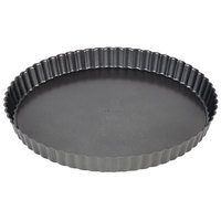 Wilton 2105-450 Excelle Elite 11 inch x 1 1/8 inch Fluted Non-Stick Tart / Quiche Pan with Removable Bottom