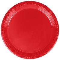 """Dart Solo P65R-0099 6"""" Red Plastic Plate - 1000/Case"""