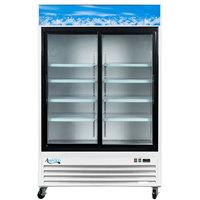 Avantco GDS47-HC 53 1/8 inch White Sliding Glass Door Merchandiser Refrigerator with LED Lighting