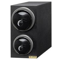 San Jamar L2912BK EZ-Fit Black 2-Slot Vertical 8 - 46 oz. Countertop Lid Dispenser Cabinet with Black Trim Ring