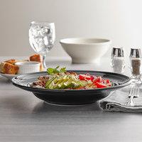 Tuxton CBD-120 Concentrix 24.5 oz. Black China Soup / Pasta Bowl - 6/Case