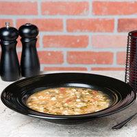 Tuxton CBD-120 Concentrix 23 oz. Black China Soup / Pasta Bowl - 6/Case