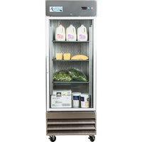 Avantco SS-1R-G-HC 29 inch Glass Door Reach-In Refrigerator