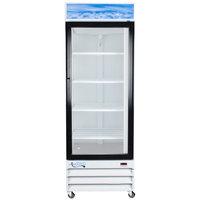 Avantco GDC23-HC 28 3/8 inch White Swing Glass Door Merchandiser Refrigerator with LED Lighting