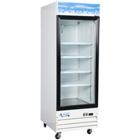 Avantco GDC-23-HC 28 3/8 inch White Swing Glass Door Merchandiser Refrigerator with LED Lighting