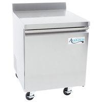Avantco SS-WT-27R-HC 27 inch Worktop Refrigerator with 3 1/2 inch Backsplash