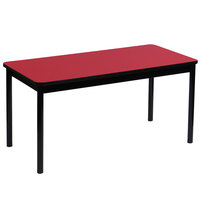 Correll LR3072-35 30 inch x 72 inch Red Library Table - 29 inch Height