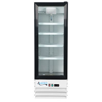 Avantco GDC-10-HC 21 5/8 inch White Swing Glass Door Merchandiser Refrigerator with LED Lighting