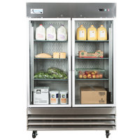 Avantco SS-2R-G-HC 54 inch Glass Door Reach-In Refrigerator