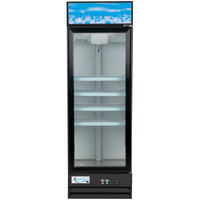 Avantco GDC-15-HC 25 5/8 inch Black Swing Glass Door Merchandiser Refrigerator with LED Lighting - 13.3 Cu. Ft.