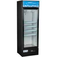 Avantco GDC-15-HC 25 5/8 inch Black Swing Glass Door Merchandiser Refrigerator with LED Lighting