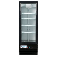 Avantco GDC-10-HC 21 5/8 inch Black Swing Glass Door Merchandiser Refrigerator with LED Lighting - 8.6 Cu. Ft.
