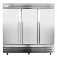 Avantco SS-3R-HC 81 inch Solid Door Reach-In Refrigerator - 66.5 cu. ft.