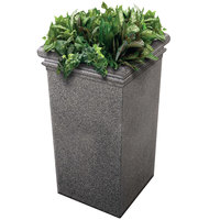 Commercial Zone 724119 StoneTec 19 inch x 19 inch x 33 inch Pepperstone Tall Planter