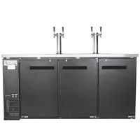 Avantco UDD-72-HC Kegerator / Beer Dispenser with 2 Double Tap Towers - (3) 1/2 Keg Capacity