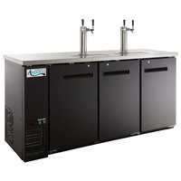 Avantco UDD-72-HC (2) Double Tap Kegerator Beer Dispenser - Black, (3) 1/2 Keg Capacity