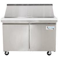 Avantco SS-PT-48M 48 inch 2 Door Mega Top Stainless Steel Refrigerated Sandwich Prep Table