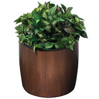 Commercial Zone 756345 Garden Series 21 inch x 23 inch Espresso Elmwood Planter