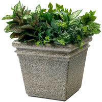 Commercial Zone 724020 StoneTec 18 inch x 18 inch Riverstone Planter