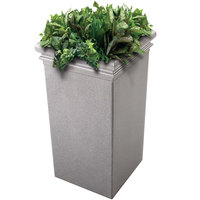 Commercial Zone 724117 StoneTec 19 inch x 19 inch x 33 inch Ashtone Tall Planter