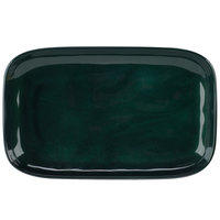GET CS-117-CSG Cosmo 12 inch x 7 1/2 inch Green Melamine Irregular Rectangular Platter - 12/Case