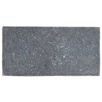 GET SB-1473-GB Granville 14 inch x 7 inch Black Melamine Faux Matte Granite Display
