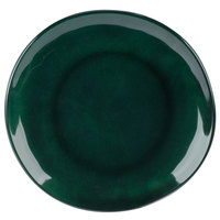 GET CS-10-CSG Cosmo 10 1/2 inch Green Melamine Irregular Round Coupe Plate - 12/Case