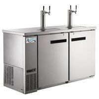 Avantco UDD-60-HC-S (2) Double Tap Kegerator Beer Dispenser - Stainless Steel, (2) 1/2 Keg Capacity