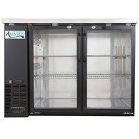 Avantco UBB-48G-HC 48 inch Black Narrow Glass Door Undercounter Back Bar Refrigerator