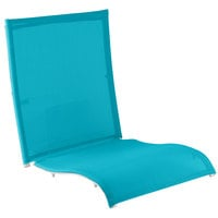 Grosfillex US241241 Belize Turquoise Sling with White Frame Attachment